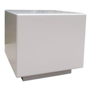 Vintage Modernist Plinth Base Cube Side Table For Sale