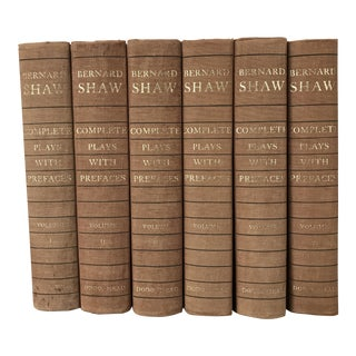 Set of 6 Vintage Books - Bernard Shaw Complete Plays Volumes I -VI For Sale