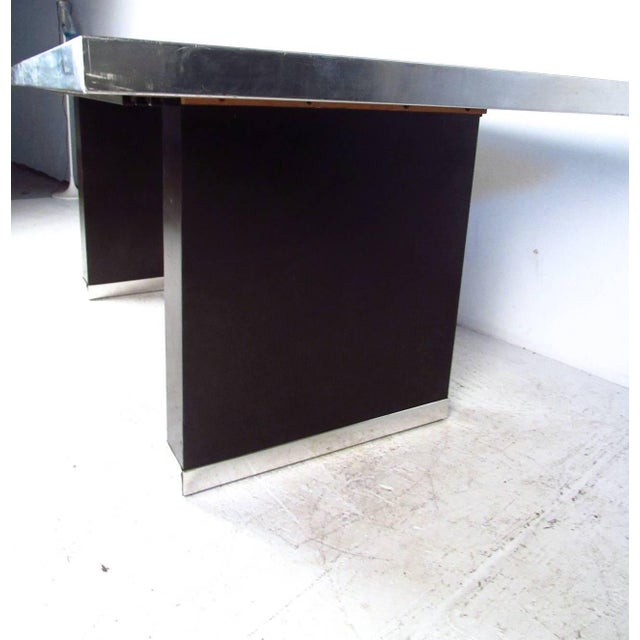 Chrome Modern Dining Table by Pierre Cardin For Sale - Image 7 of 11