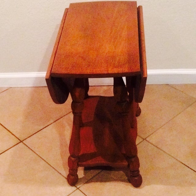 Antique Gate Leg Side Table - Image 8 of 8