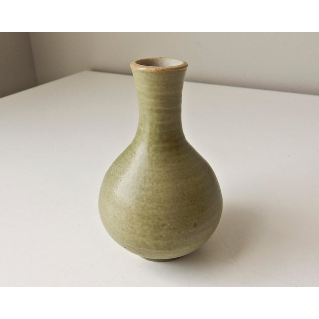 Mini Bud Vase with Hand in Celadon - Image 5 of 8