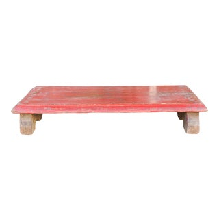 Vintage Roja Traditional Wooden Bajot Table For Sale