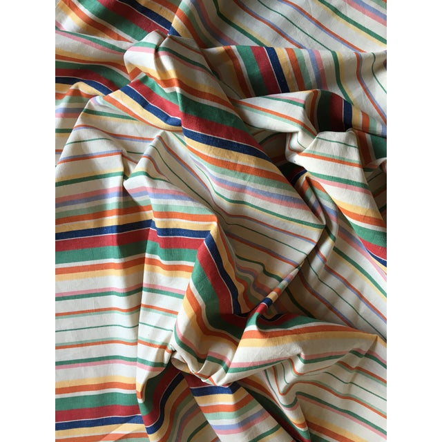 """Cottage Moving Sale - Make an Offer - Everything Must Go - Ralph Lauren """"Didier Stripe"""" Cotton Linen Fabric For Sale - Image 3 of 3"""