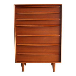 Danish Modern Svend Aage Madsen for Falster Mobelfabrik Teak Highboy Dresser