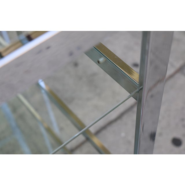 Chrome Modern Etagere For Sale - Image 11 of 11