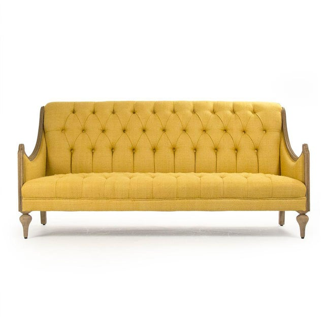 2020s Graham Walsh Sofa in Mustard For Sale - Image 5 of 5