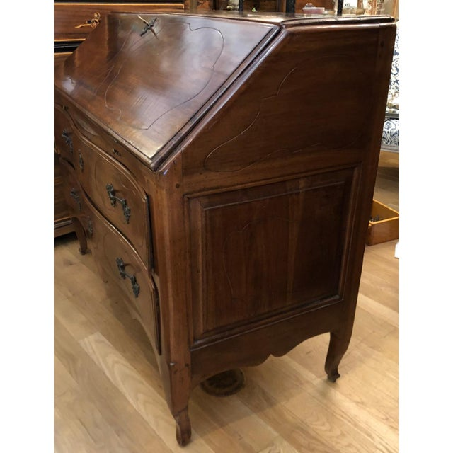 Antique French Country Slant Front Secretary Desk For Sale - Image 4 of 8