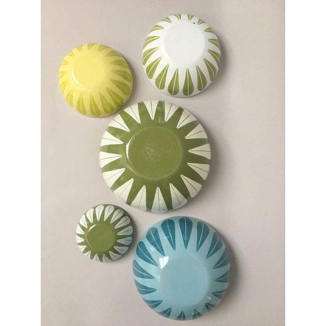1960s Cathrineholm Scandinavian Modern Enamel Nesting Bowls - Set of 5 For Sale - Image 5 of 11