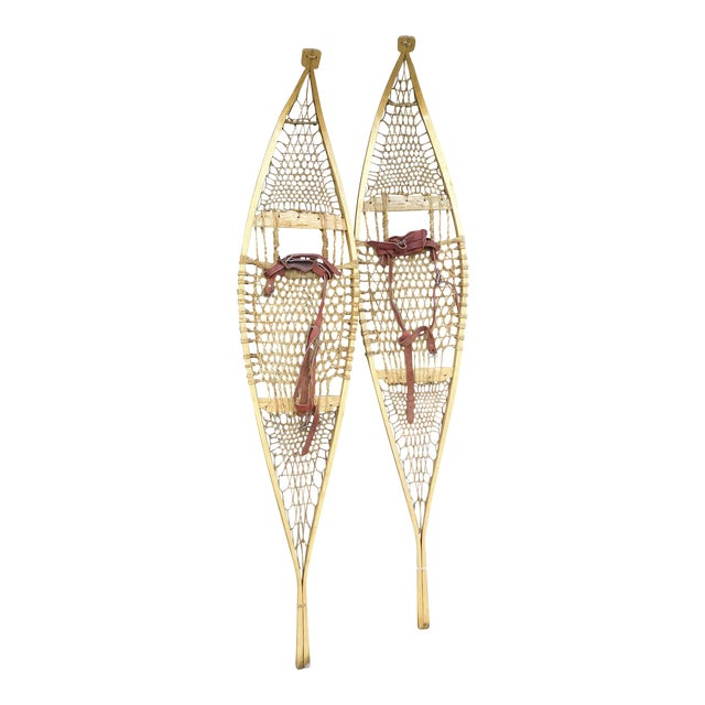 Vintage Ojibwe Snow Shoes - A Pair - Image 1 of 7