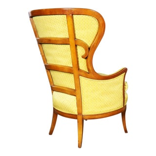 Art Deco Style High Wingback Lounge Chair From John M. Smyth Company Chicago For Sale
