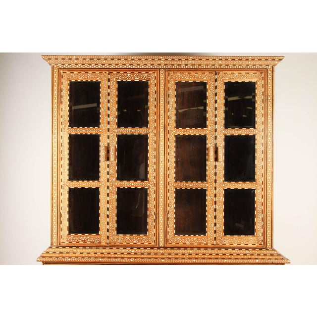 Richly Inlaid Indian Cabinet - Image 4 of 10