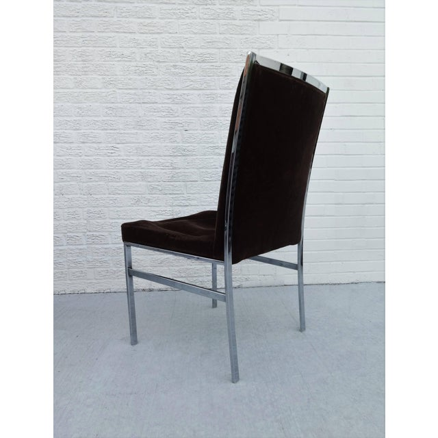 Set of Six Chrome Dining Chairs by Dillingham in the Style of Milo Baughman For Sale In Dallas - Image 6 of 10
