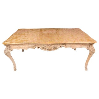 19th Century French Louis XIV Style Center Table With Siena Marble Top