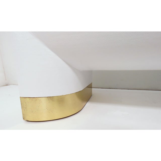 Lacquered Linen Jay Spectre for Century Furniture Coffee Table, Circa 1970s For Sale - Image 10 of 11