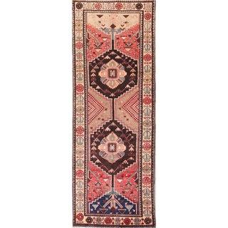 Coral Semi Antique Persian Runner Rug - 3′5″ × 9′7″