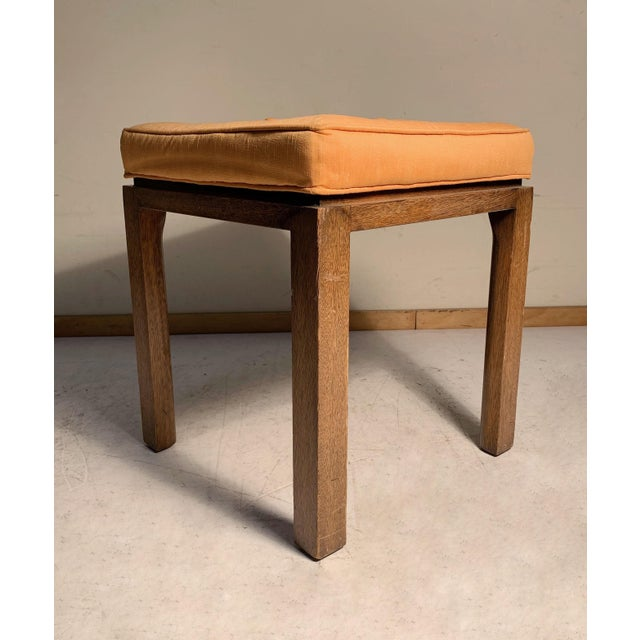 Pair of vintage midcentury stools attributed to Harvey Probber. Legs have a radius interior side. I believe these most...