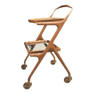 1950s Italian Cesare Lacca Bar Cart For Sale