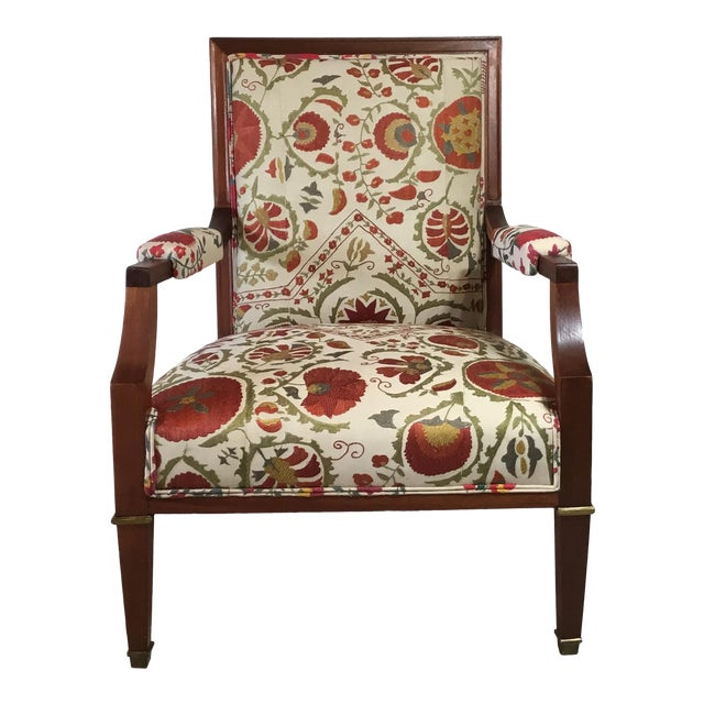1960s Vintage French Suzani Armchair For Sale
