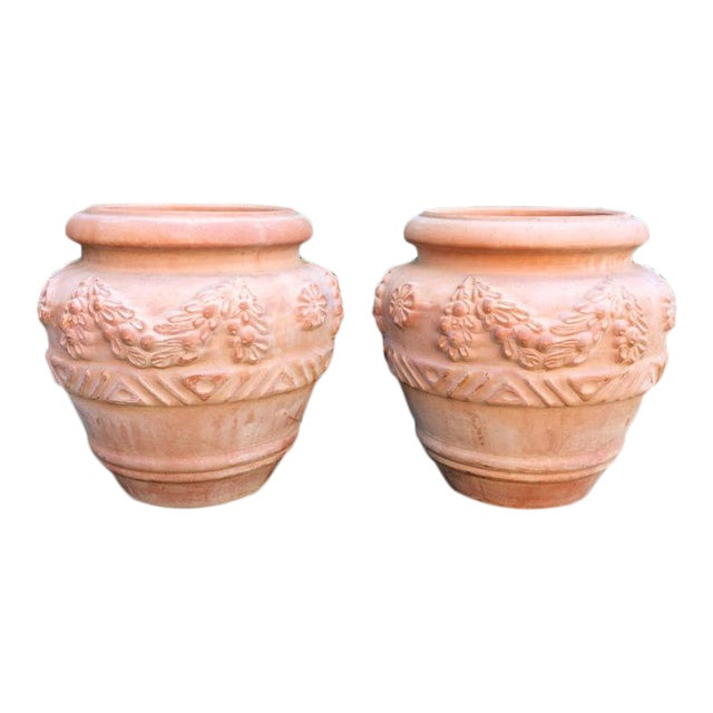 Pair of Italian Bitossi Planters For Sale