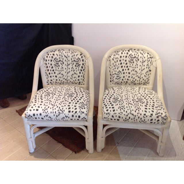 Mid Century Henry Link Chairs With Brunschweig & Fils Upholstery - A Pair For Sale - Image 6 of 6