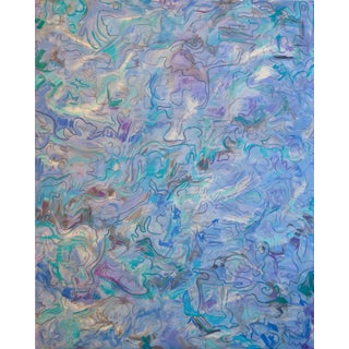 """Shallow Waters"" by Trixie Pitts Extra-Large Abstract Oil Painting For Sale"