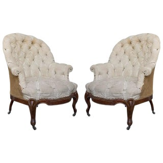19th Century Antique French Armchairs-A Pair For Sale
