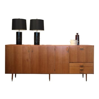 1950s Custom Made Midcentury Ash Sideboard For Sale