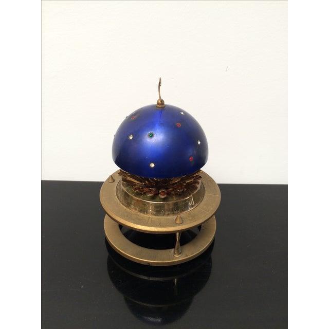 Blue Zodiac Globe Pop-Up Cigarette Holder For Sale - Image 5 of 8