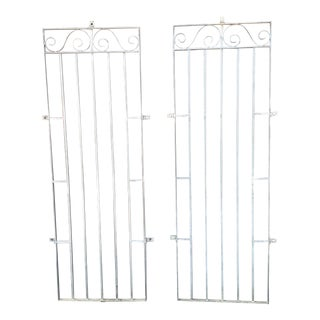 Galvanized Metal Window Garden Grates - a Pair For Sale