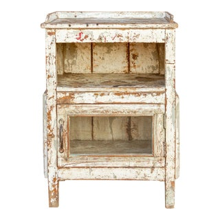 Rustic French Bedside Table For Sale
