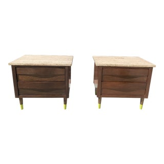 1950s Mid Century Modern American of Martinsville Nightstands - a Pair For Sale