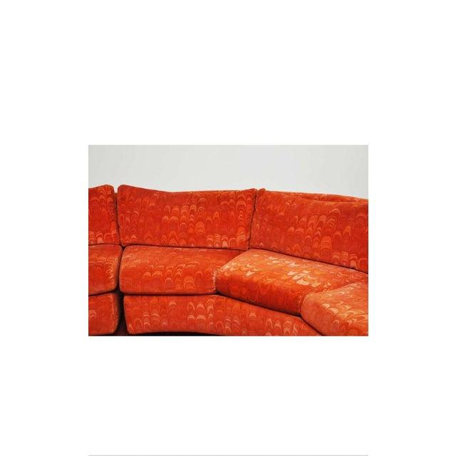 Metropolitan 3 Pc. Sectional Sofa in Jack Lenor Larsen Velvet For Sale In Chicago - Image 6 of 10