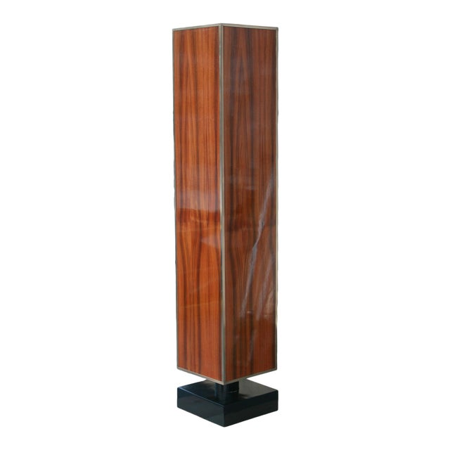 Rosewood and Lacquer Pedestal or Column For Sale