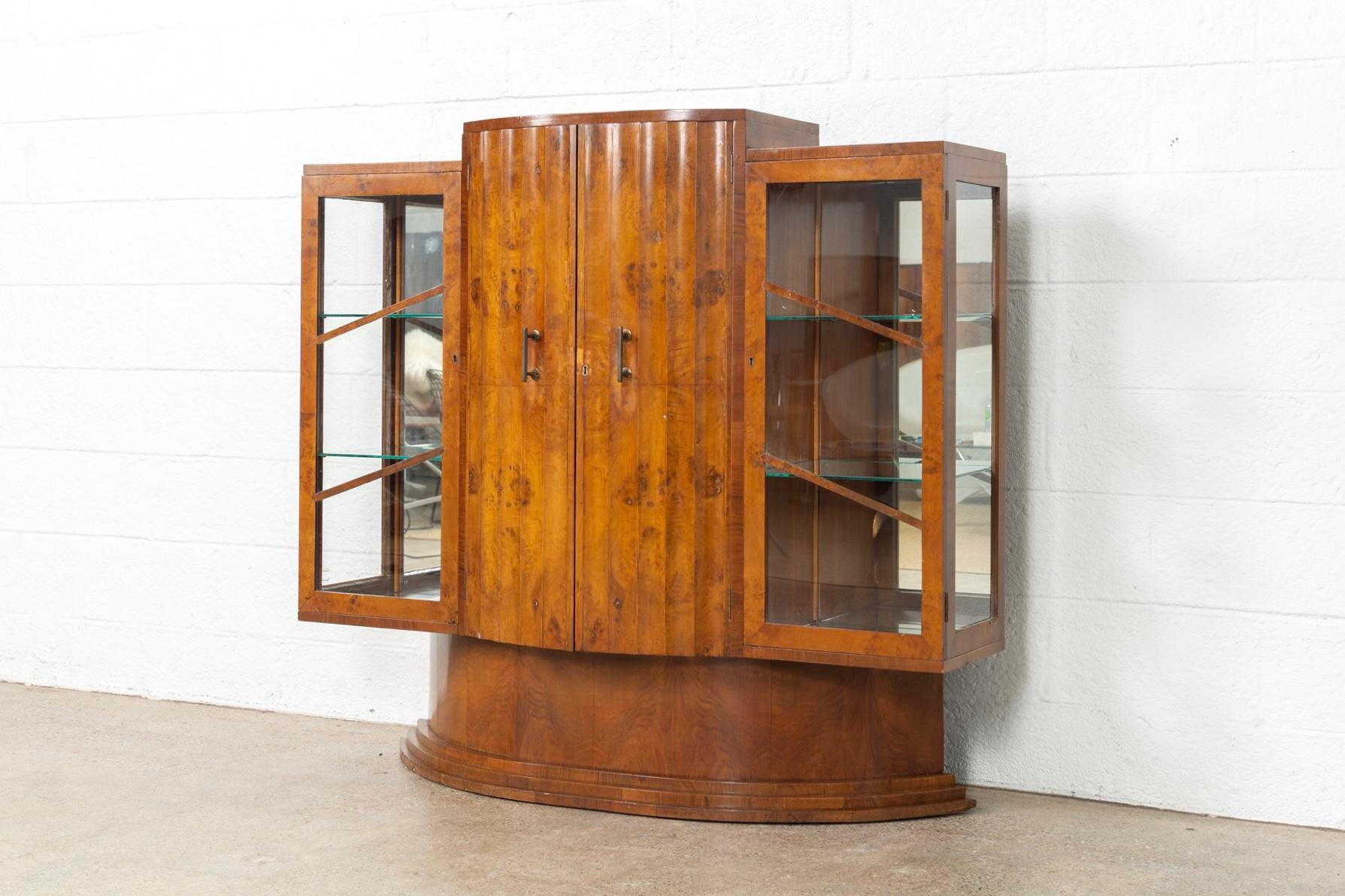 This Exquisite Art Deco Burl Wood Bar Cabinet Attributed To Harry U0026 Lou  Epstein Is Circa