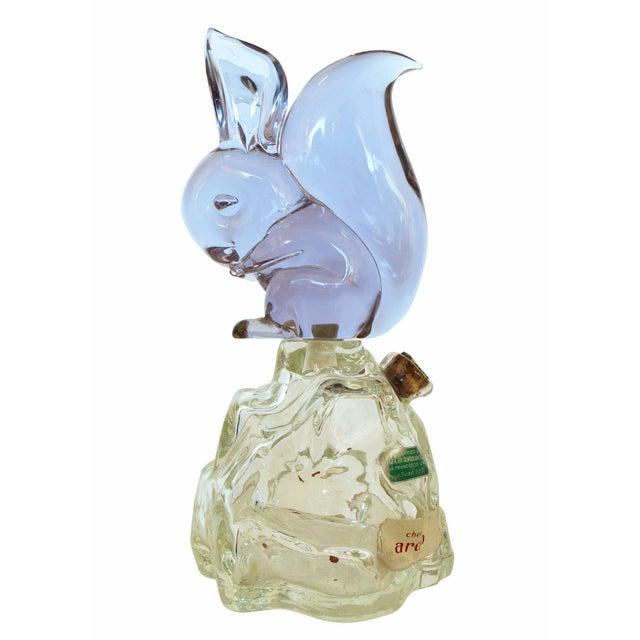 Archimede Seguso Alabastro Murano Squirrel Decanter Bottle - Image 4 of 7