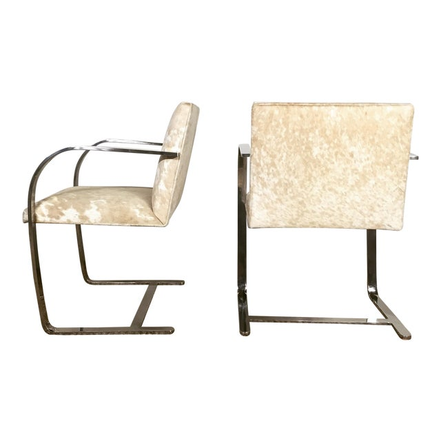 Mies Van Der Rohe for Knoll Brno Chairs - Pair - Image 1 of 5