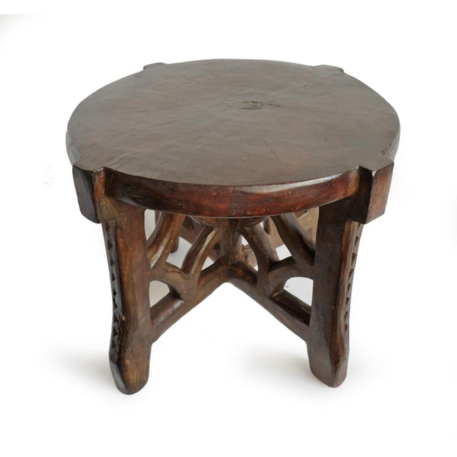 Tribal Consigned Tanzania Wood Stool For Sale - Image 3 of 7