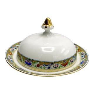 1920s Koenigszelt Silesia Dome Covered Bone China Serving Dish For Sale