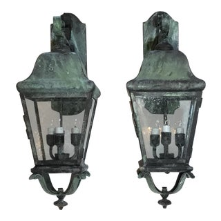 Americana Architectural Handcrafted Wall Lanterns - 2 Pieces
