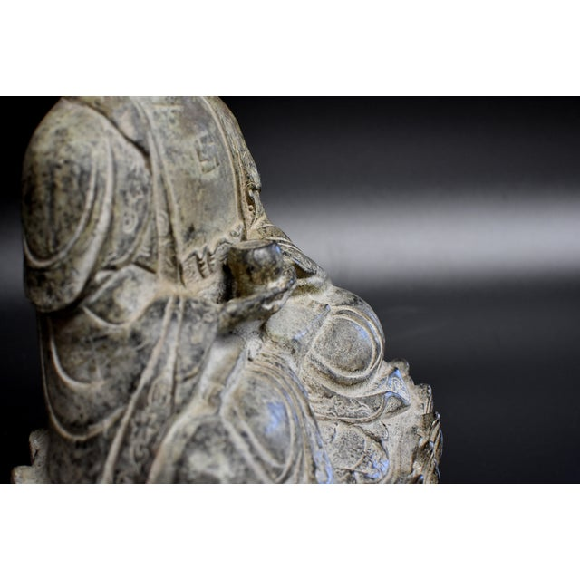 19th Century Antique Bronze Buddha Statue For Sale - Image 10 of 13