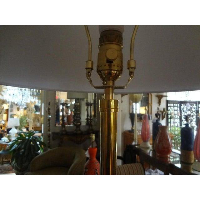 Metal Mid-Century Modern Paul McCobb Style Brass Tripod Floor Lamp For Sale - Image 7 of 12