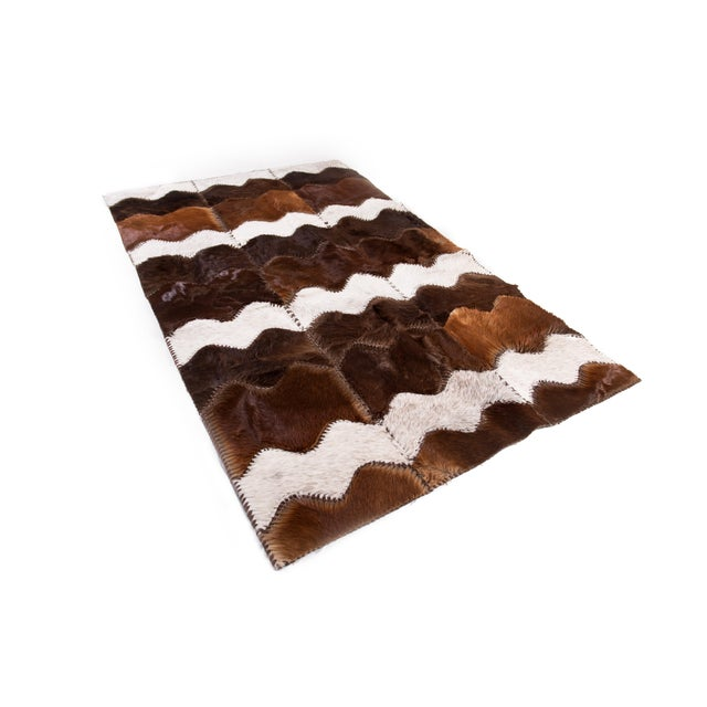 """Cowhide Patchwork Area Rug - 4' x 6'4"""" - Image 2 of 8"""