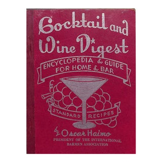 Cocktail and Wine Digest Book For Sale