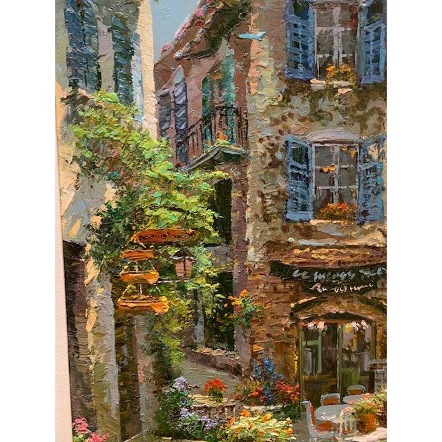 Paint 1990s Vintage Original Italian Street Scene Painting For Sale - Image 7 of 13