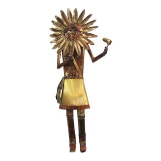 Sunface Metal Kachina Wall Sculpture