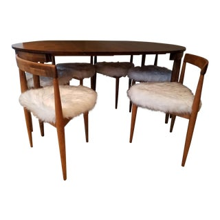 1950s Mid Century Modern Winchendon Hans Olsen Frem Rojle Nesting Dining Set - 7 Pieces For Sale