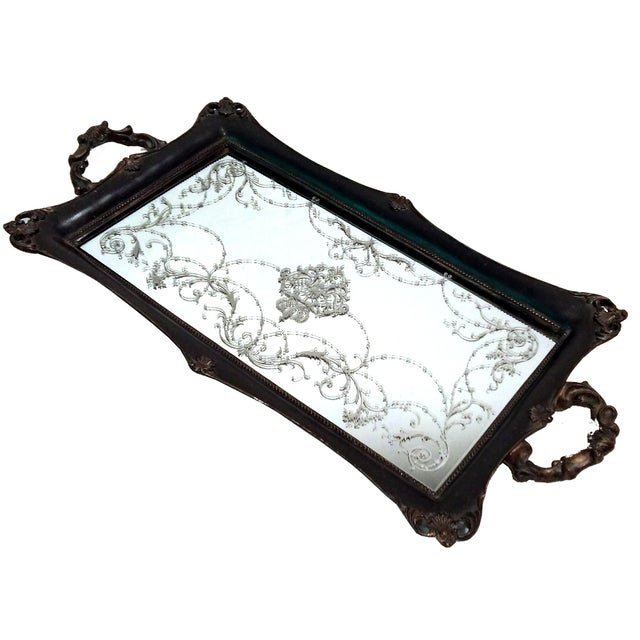 Victorian Mirrored Vanity Tray - Image 1 of 7