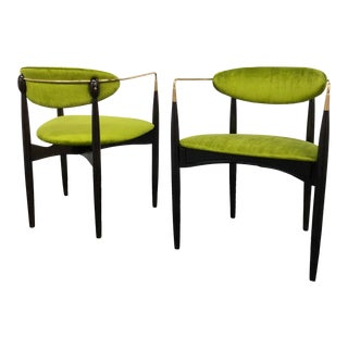 Mid Century Modern Dan Johnson Viscount Armchairs - a Pair For Sale