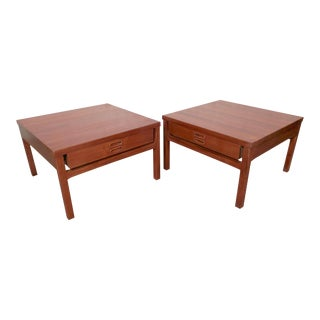 Pair of Mid-Century Wide Sofa Tables From Denmark For Sale