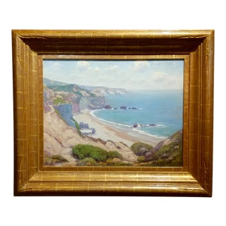 Charles L A Smith-Point Dume,Malibu c.1920s-California impressionist-Oil Painting For Sale